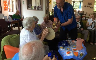 Clients in tune with music therapy at Safe Haven